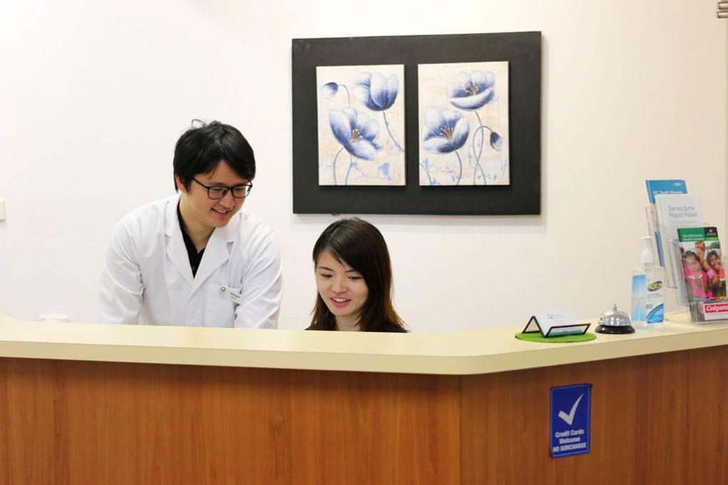 Dr Vincent Huang Dentist and Monica Dental Receptionist Paisley Street Focus On Dental