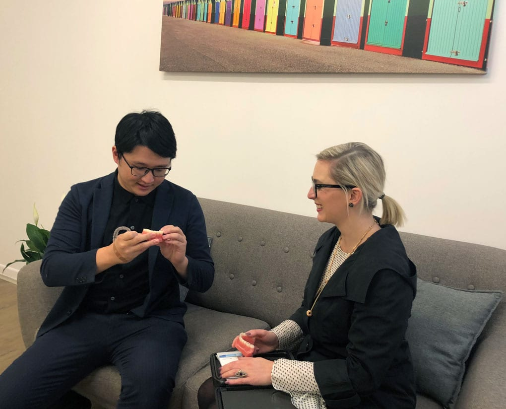 Dr Vincent Huang and Patient Paisley St Footscray Dentist